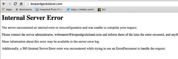 500 Internal error MochaHost