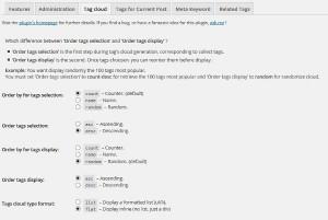Simple Tags - Tag Cloud Settings