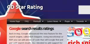 GD Star Rating Plugin