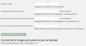 Advanced blocking