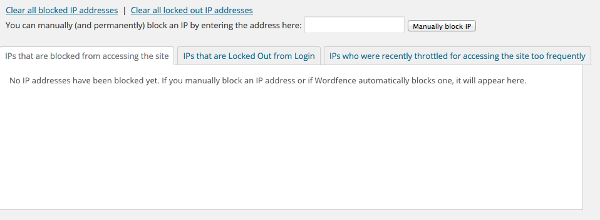 Blocked IPs