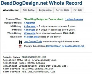 Whois - Dead Dog Design