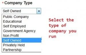 LinkedIn Company Type