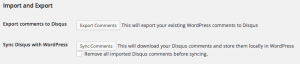 Importing With Disqus