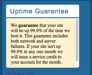Their uptime policy