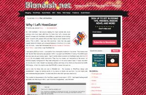 Blondish.net Left HostGator