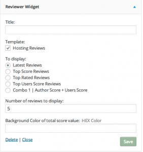 Reviewer Widget