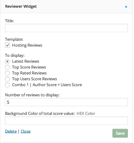 Reviewer Widget