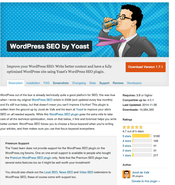Yoast WordPress Plugin Page