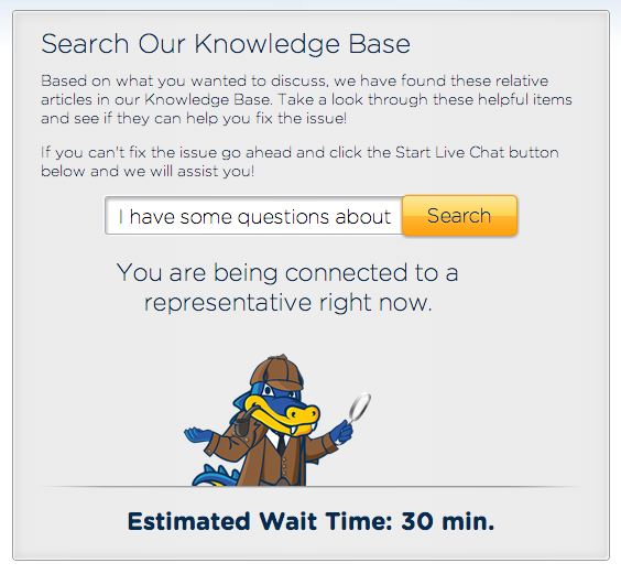 Hostgator Stuck on 30 Min Wait For 3 days!