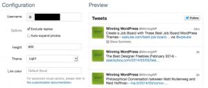 Official Twitter Widget