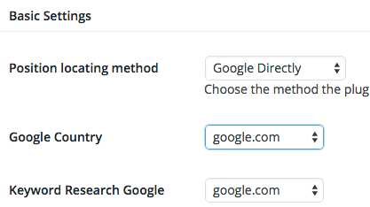 Serp Ranking Settings