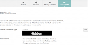 NameCheap Domain Manager