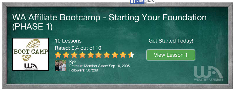 Boot Camp Training At Wealthy Affiliate