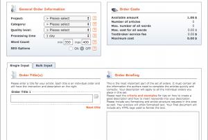 Textbroker.com Order