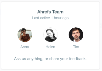 Ahrefs Customer Support