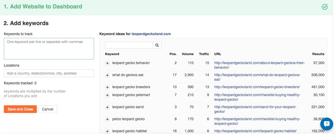 Keyword Tracker