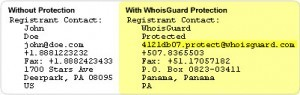 WhoIsGuard Protected Information