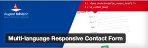 Multi-language responsive contact form