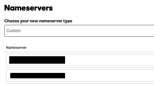 GoDaddy Nameservers