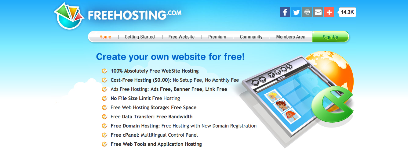 free hosting with subdomain no ads