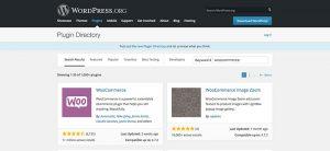 WooCommerce at WordPress.org