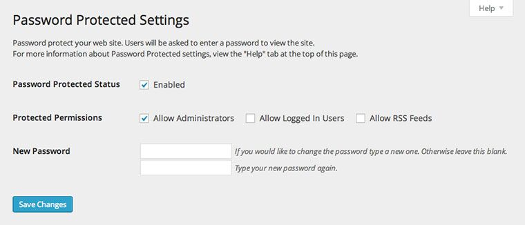 Wordpress Private Blog Settings